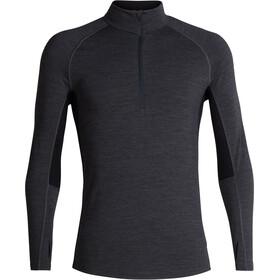 Icebreaker 200 Zone LS Half-Zip Shirt Men jet heather/black